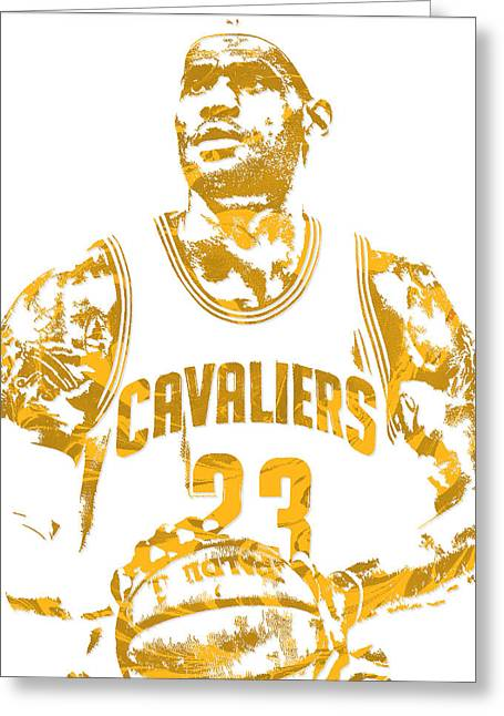 Lebron James Cleveland Cavaliers Pixel Art 8 Greeting Card