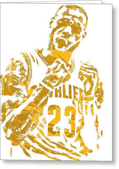 Lebron James Cleveland Cavaliers Pixel Art 9 Greeting Card