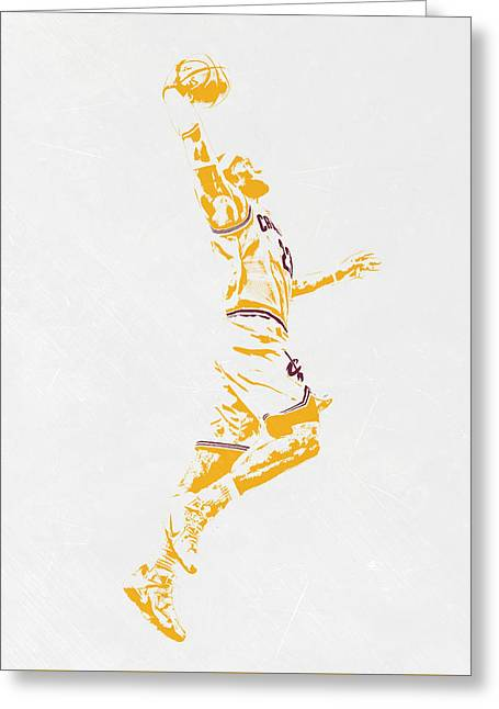 Lebron James Cleveland Cavaliers Pixel Art Greeting Card