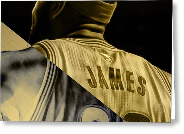 Lebron James Collection Greeting Card by Marvin Blaine