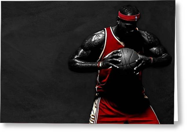 Lebron James Greeting Card by Movie Poster Prints