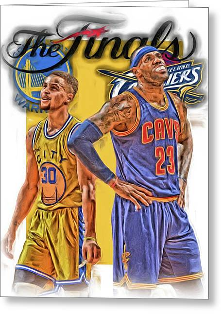 Lebron James Stephen Curry The Finals Greeting Card
