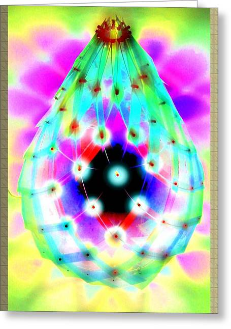 Lamp Sculptures Greeting Cards - LED Lamp easter drop did not Faberge Greeting Card by Yuri Shevnin