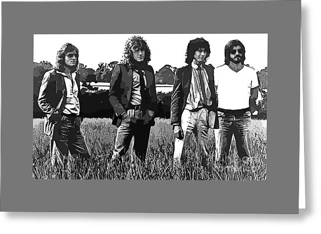 Led Zeppelin Abstract Poster Greeting Card
