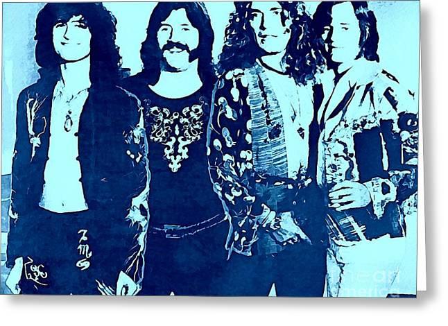 Led Zeppelin Blue  Greeting Card