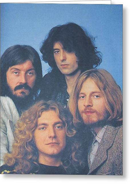Led Zeppelin Greeting Card by Donna Wilson