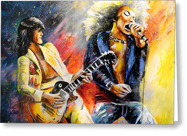 Led Zeppelin Passion Greeting Card by Miki De Goodaboom