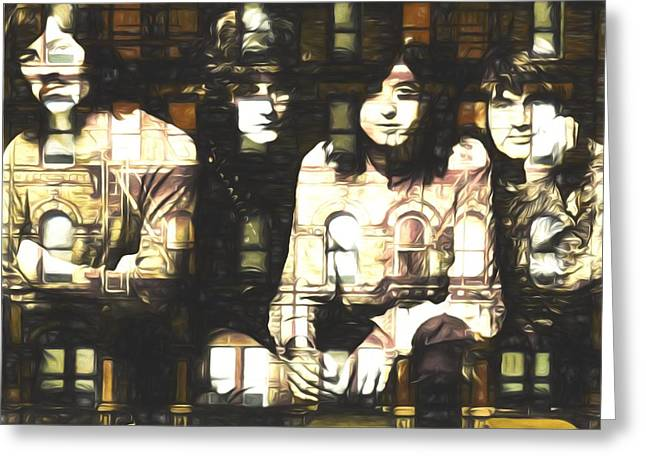 Led Zeppelin Physical Graffiti Greeting Card by Dan Sproul