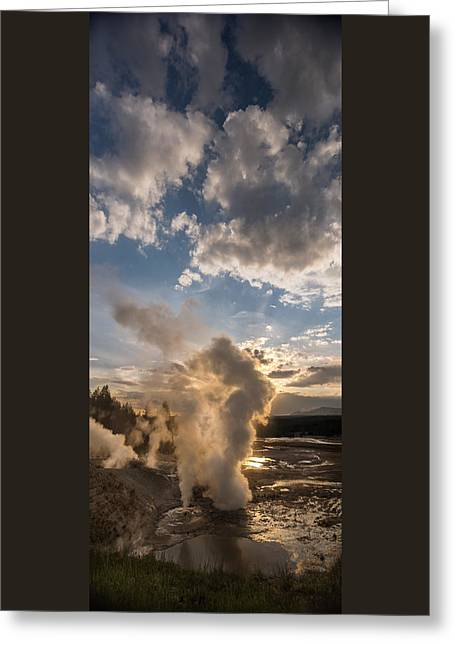 Ledge Geyser Yellowstone N P Greeting Card
