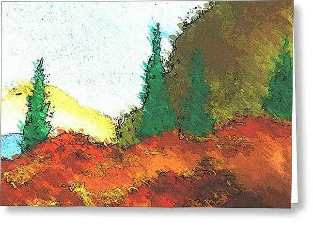 Ledge In The Forest Greeting Card by Kathleen Voort