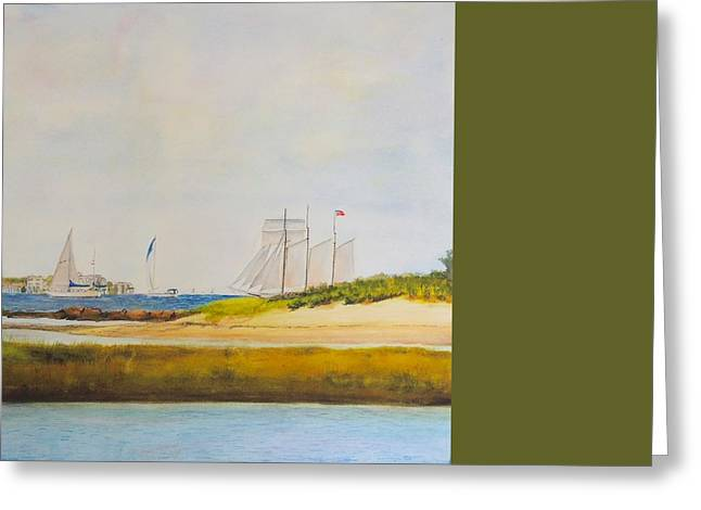 Ledge Light Lighthouse New London Waterford Beach Ct Greeting Card by Patty Kay Hall