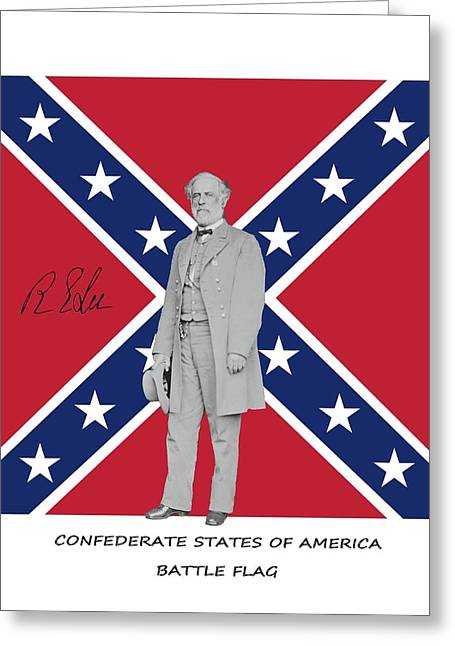 Lee Battleflag Greeting Card