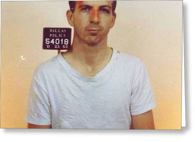 Lee Harvey Oswald Mug Shot Nov 22 1963 Vertical Color  Greeting Card by Tony Rubino
