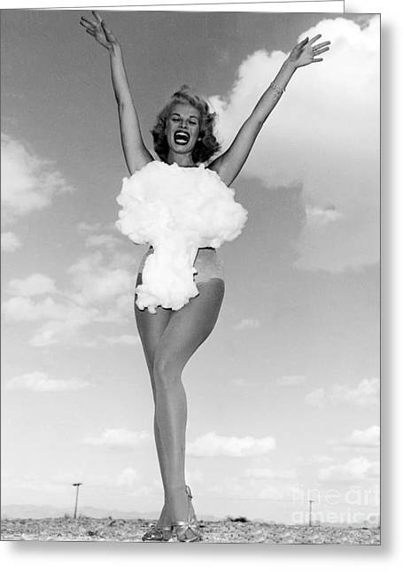 Lee Merlin, Miss Atomic Bomb, 1957 Greeting Card