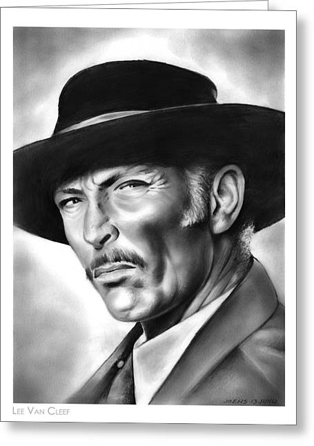 Lee Van Cleef Greeting Card by Greg Joens