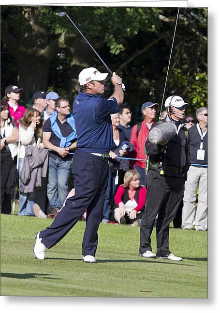Lee Westwood - 3 Greeting Card by Chris Smith