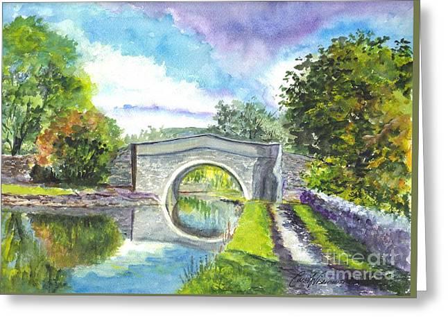 Leeds Canal Liverpool Greeting Card by Carol Wisniewski