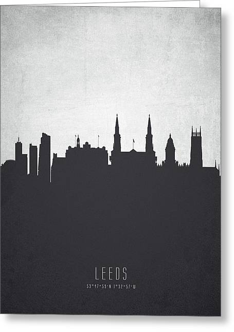Leeds England Cityscape 19 Greeting Card by Aged Pixel
