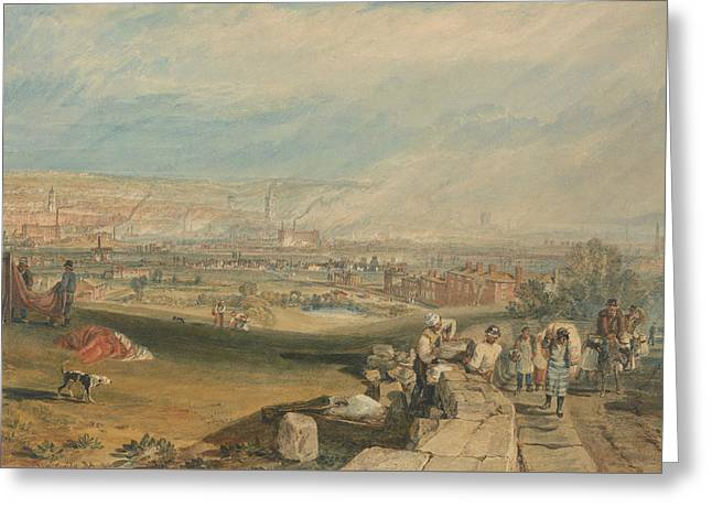 Leeds Greeting Card by Joseph Mallord William Turner