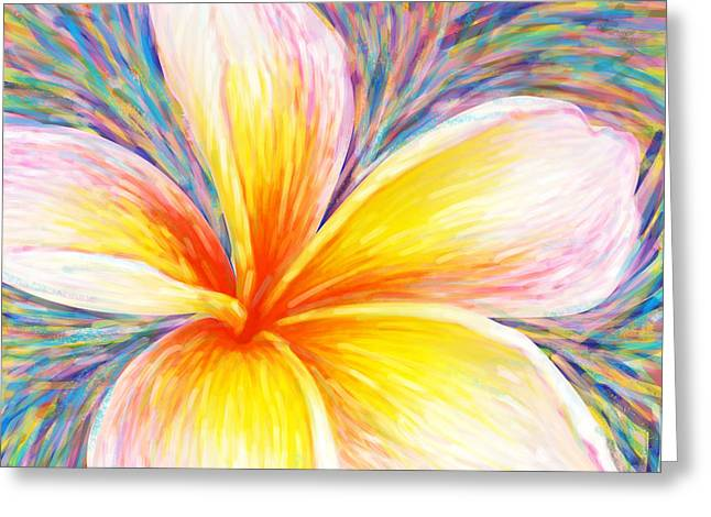 Plumeria Greeting Cards - Leelawadee Greeting Card by Atiketta Sangasaeng