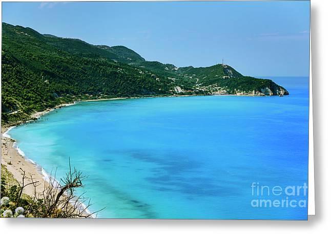 Lefkada, Greece Greeting Card by Jelena Jovanovic