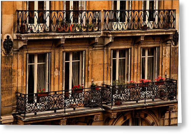 Left Bank Balconies Greeting Card