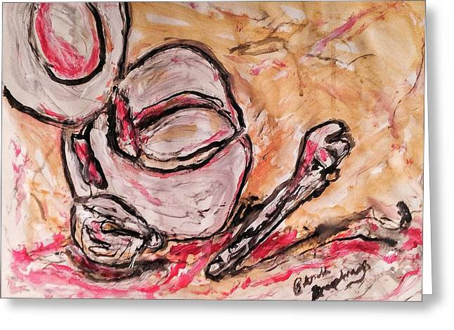 Left Hand Still Life Number 87 Greeting Card by Patrick Humphreys