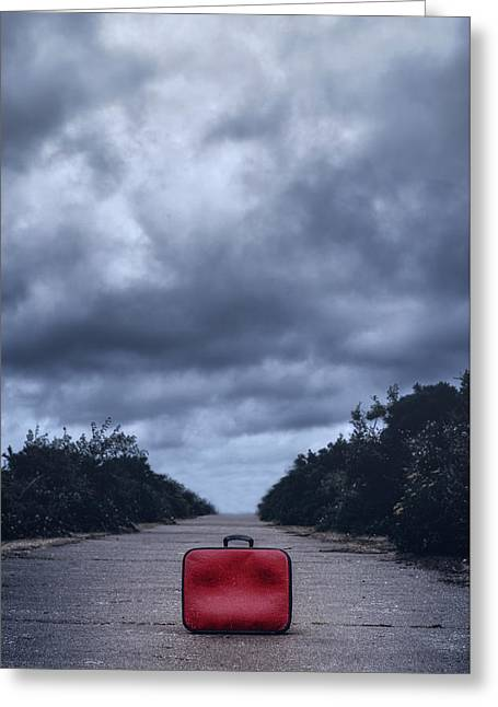 Left Luggage Greeting Card by Joana Kruse