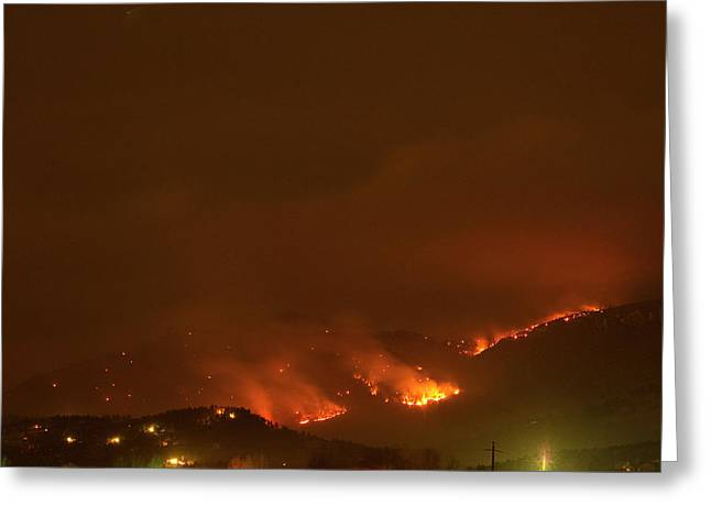 Colorado Fires Greeting Cards - Lefthand Canyon Wildfire Boulder Colorado Greeting Card by James BO  Insogna
