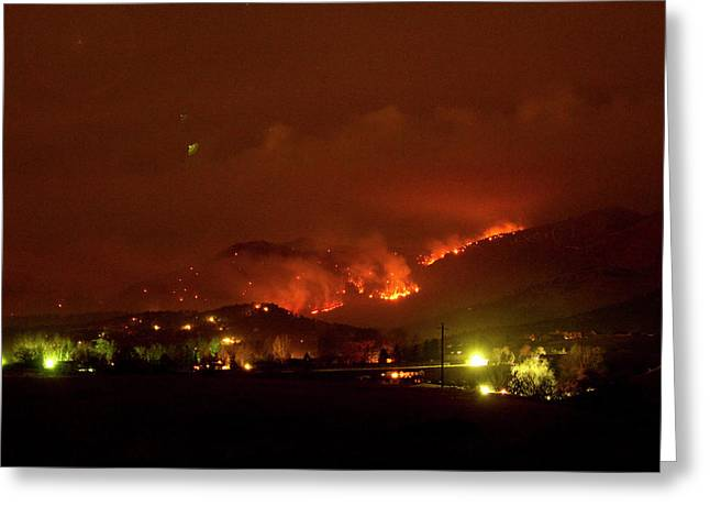 Lefthand Canyon Wildfire Boulder County Colorado 3-11-2011 Greeting Card by James BO  Insogna