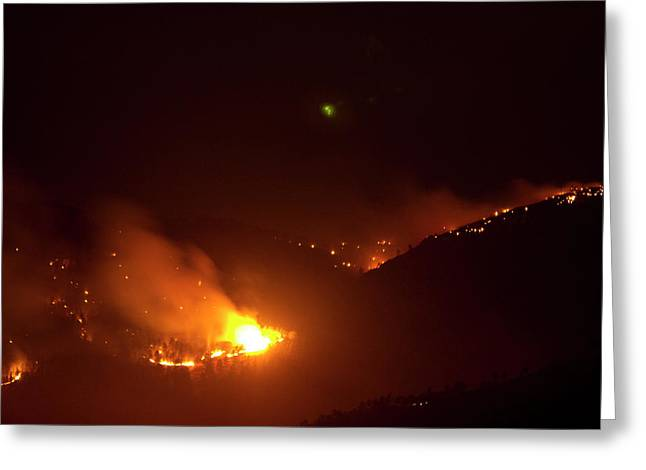Lefthand Canyon Wildfire Flare Up Boulder County Colorado Greeting Card by James BO  Insogna
