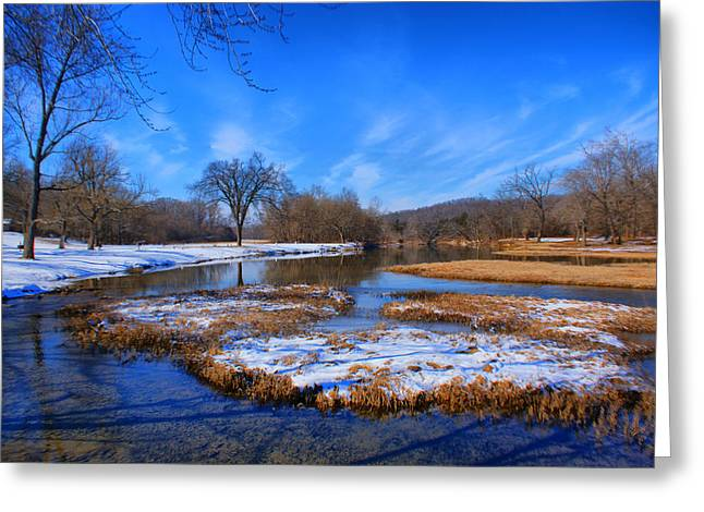 Greeting Card featuring the photograph Leftover Snow by Rick Friedle