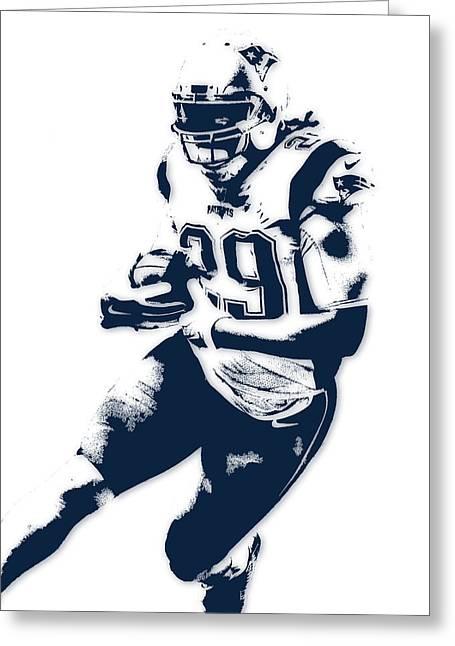 Legarrette Blount New England Patriots Pixel Art Greeting Card