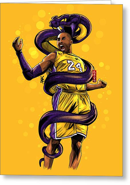 Legend Black Mamba Greeting Card by Akyanyme