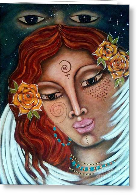 Legend Of A Soul Greeting Card by Maya Telford