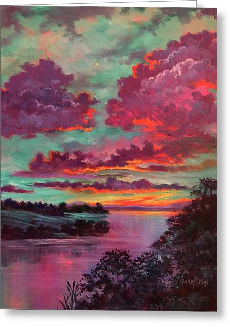 Legend Of A Sunset Greeting Card