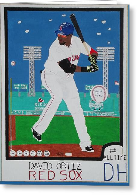 Legend Of Big Papi Greeting Card by Dennis ONeil