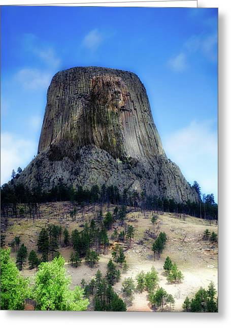 Legend Of The Bear Wyoming Devils Tower National Monument Greeting Card by Thomas Woolworth
