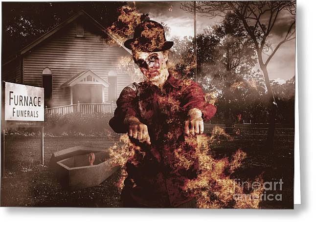 Legend Of The Furnace Funerals Fire Greeting Card by Jorgo Photography - Wall Art Gallery