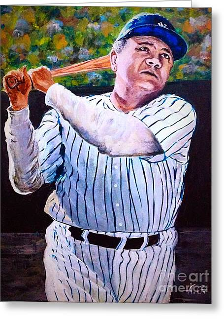 Legendary Babe Ruth Greeting Card