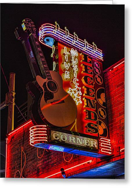 Legends Corner Nashville Greeting Card by Stephen Stookey