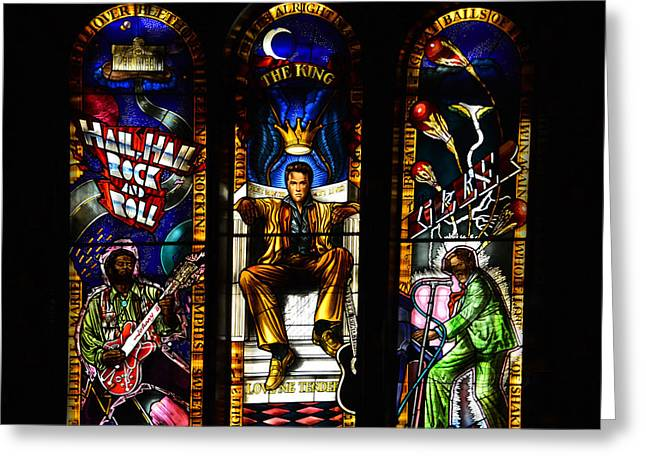 Legends Of Rock Greeting Card by David Lee Thompson