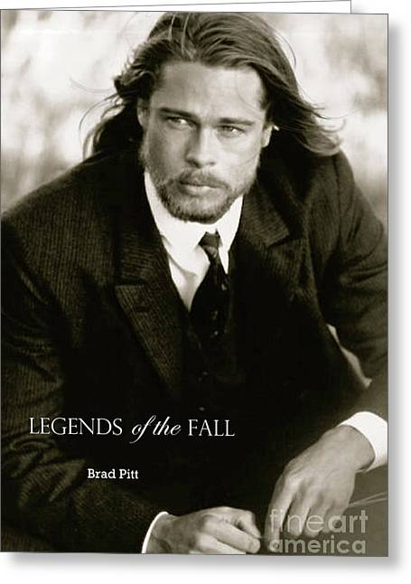 Legends Of The Fall, Brad Pitt Greeting Card by Thomas Pollart