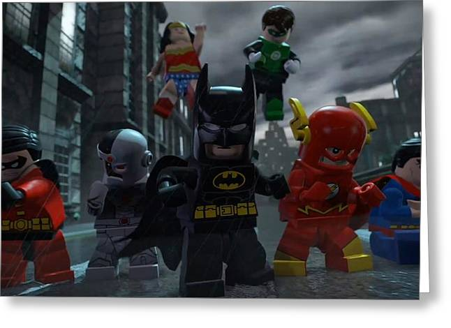Lego Batman 2 Dc Super Heroes Greeting Card