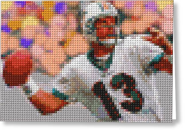 Lego Dan Marino Greeting Card by Paul Van Scott
