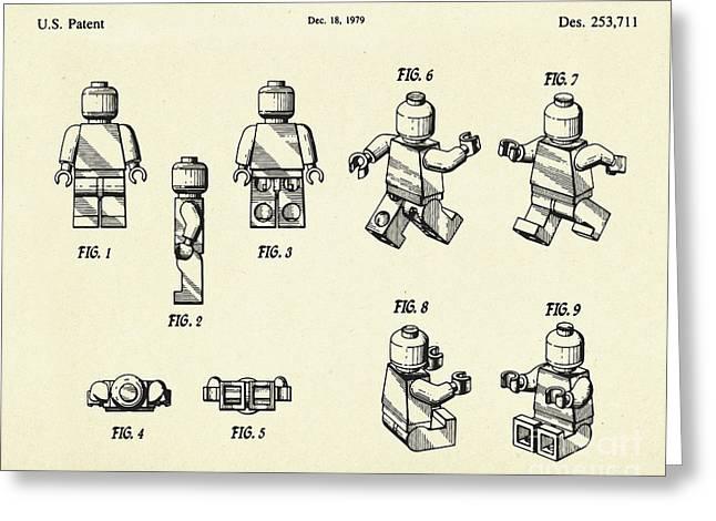 Lego Figure-1979 Greeting Card by Pablo Romero