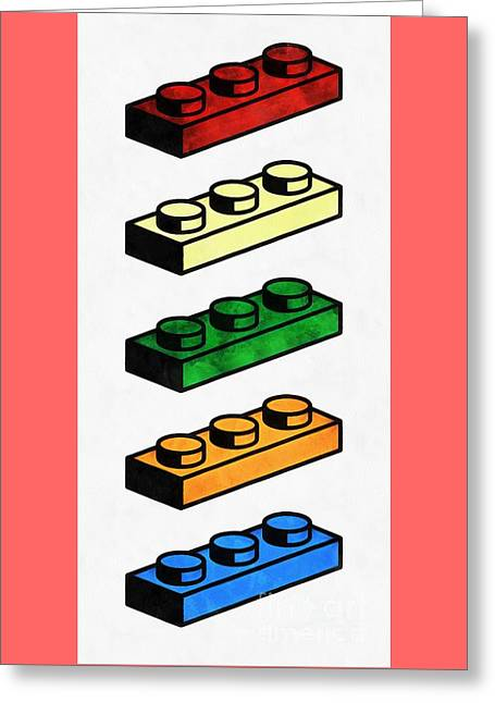 Lego Pop Art Greeting Card