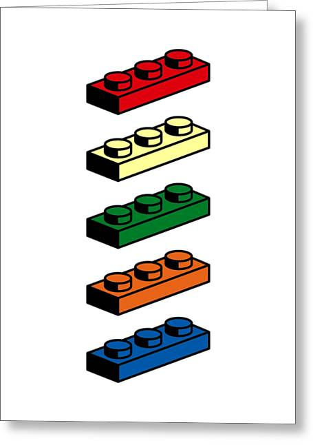 Lego T-shirt Pop Art Greeting Card