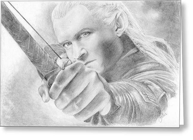 Legolas Greenleaf Greeting Card by Bitten Kari