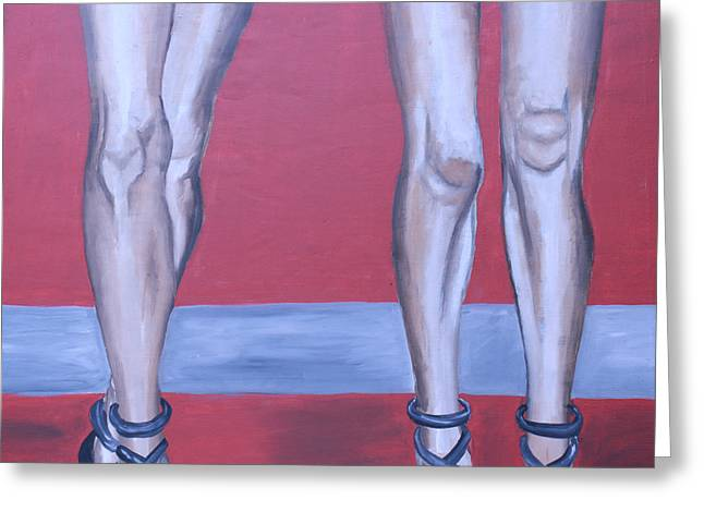 Legs II Greeting Card by Mikayla Ziegler